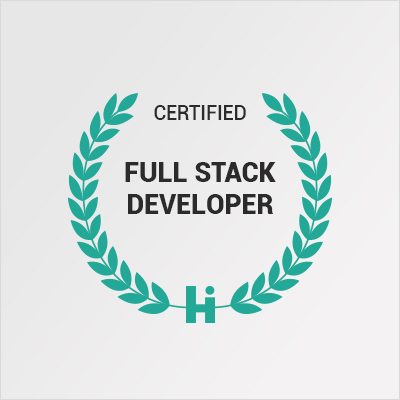 Certified Full Stack Developer